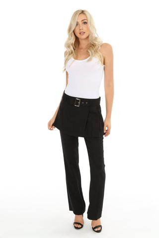 Belted Skirt Pants
