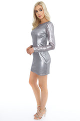 Cowl Back Sequin Dress
