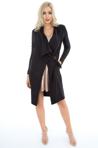 Draped Long Jacket