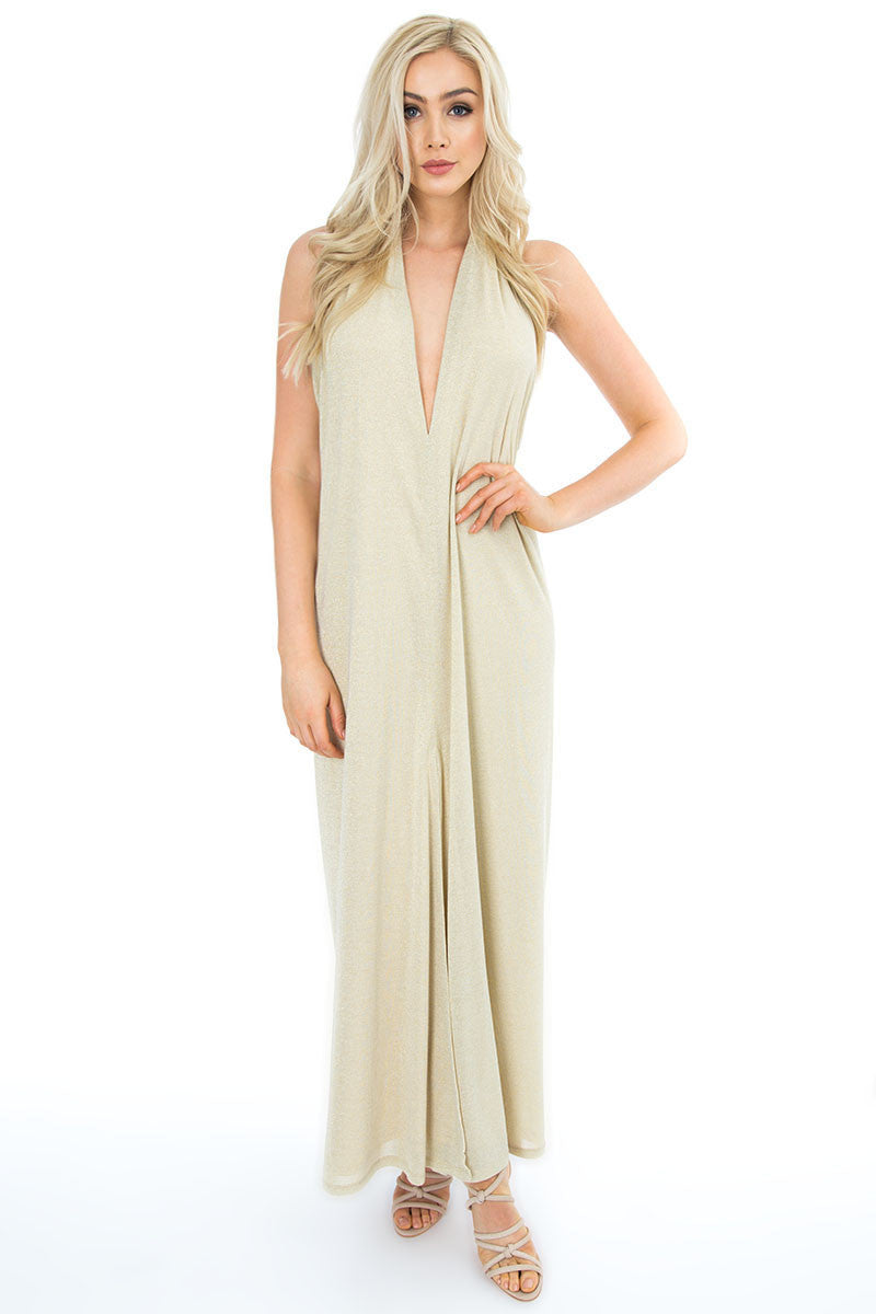 Draped Cowl Back Maxi