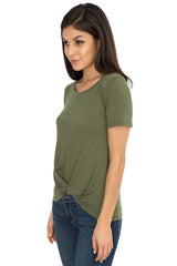 Knotted Tuck Tee