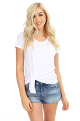 Side Tie Pocket Tee