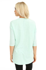 3/4 Sleeve High-Low Top