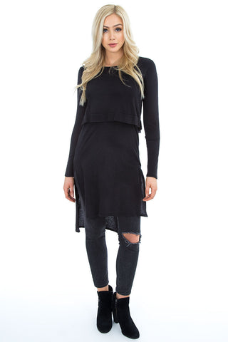 Layered Side Slit Tunic