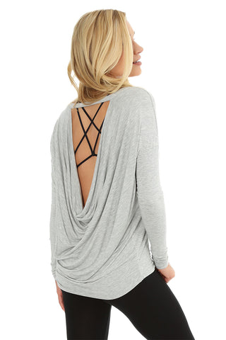 Low Cowl Back Top