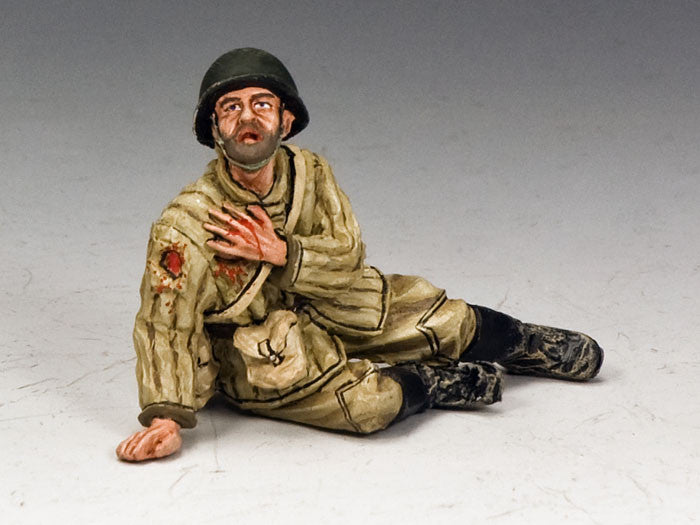 RA022 Red Army Soldier Sitting Wounded