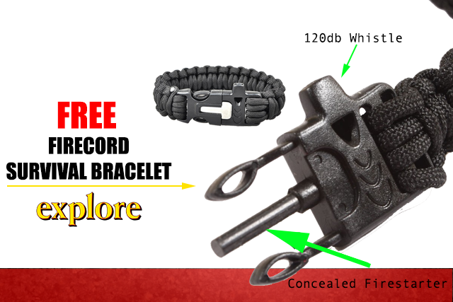 $15 FIRECORD PARACORD BRACELET FREE!