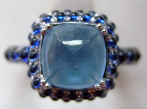 Petit Point Collection Cabochon Sapphire & Blue Topaz SMALL Ring