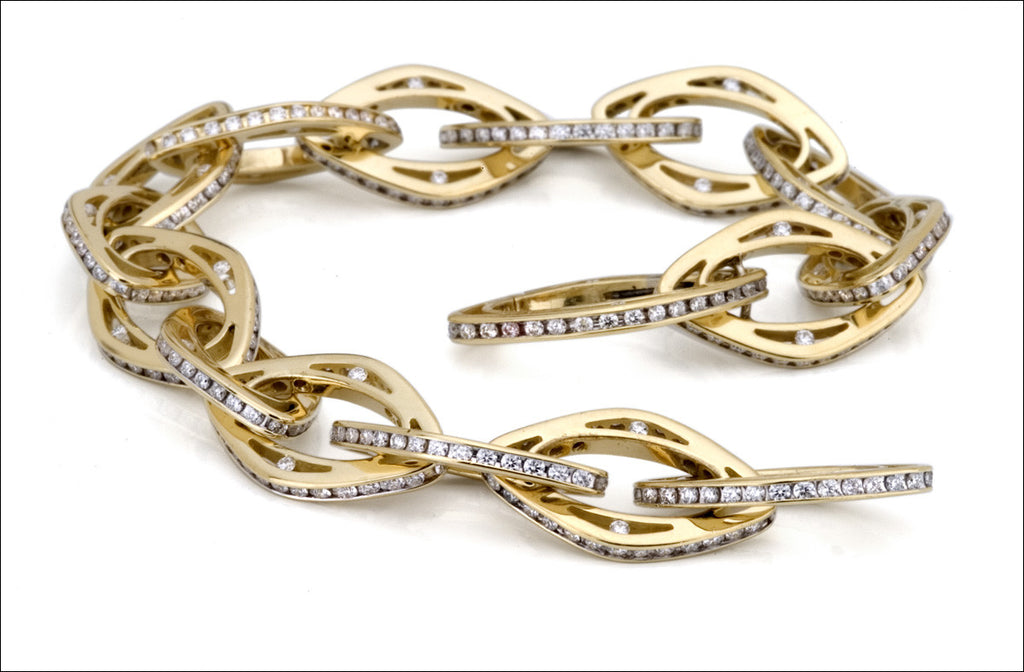 N. Viewpoint All Diamond Link Bracelet #4527.6d