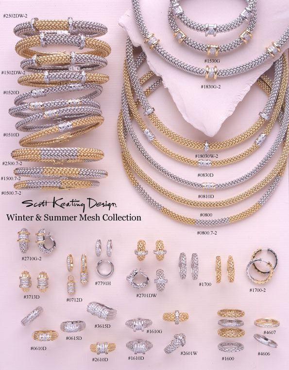 Summit Mesh Collection Two Tone Gold Diamonds