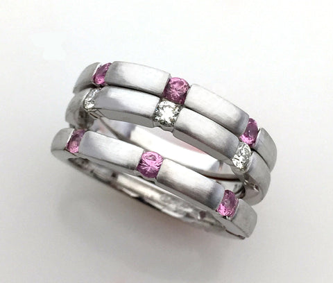 Bespoke Custom Design Women's Stack Rings