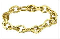 N. Viewpoint Gold Link Diamond Bracelet #4520.6d