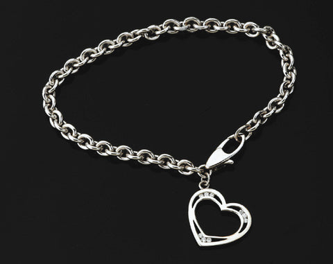 N. Viewpoint Heart Bracelet #4536D