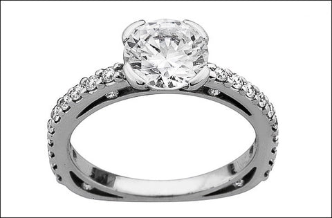 A. Women's Solitaire Plus Engagement Ring #4641.6B-d-d