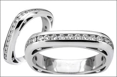 M. Women's Diamond Wedding Band #4664WB-sm