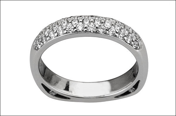 M. Women's Diamond Pave Wedding Band #4676D