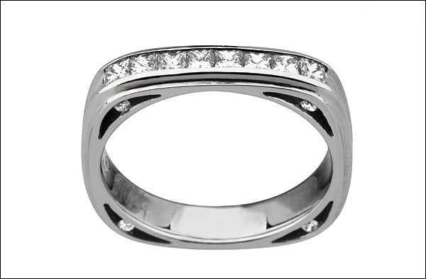 M.  Women's Princess-cut Diamond Wedding Band #4666d-pc