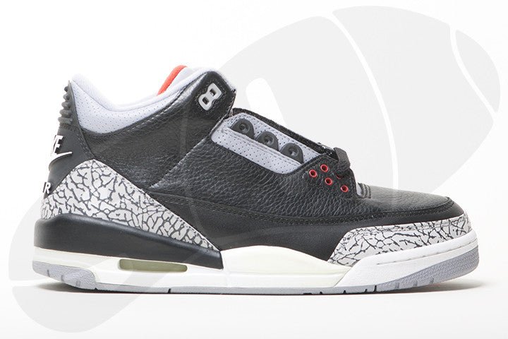 "AIR JORDAN 3 RETRO ""BLACK CEMENT 2001"""
