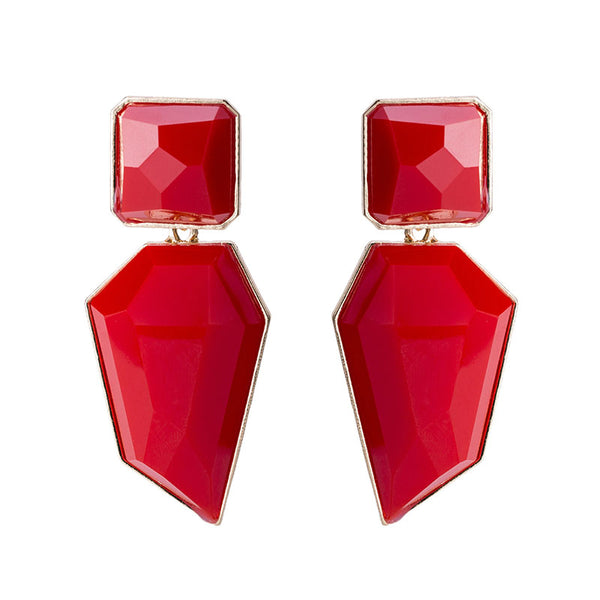 Cecile Red Earrings