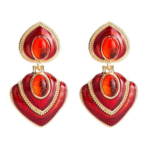 Fleur Red Earrings