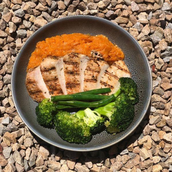 Chicken and Sweet Potato Mash