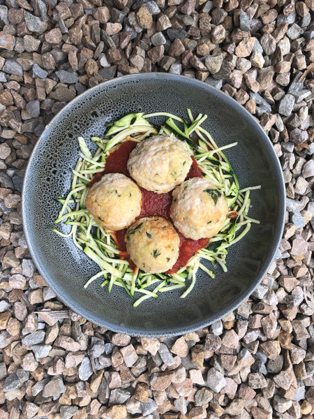 Chicken Meatballs with Zoodles
