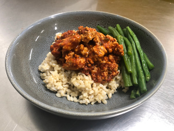 Italian Chicken Mince with Brown Rice