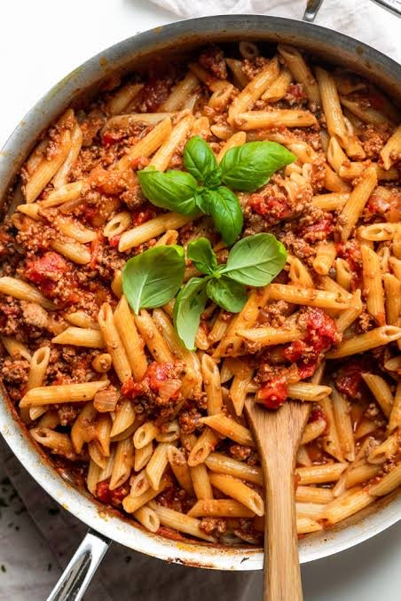 Beef Bolognese with Wholemeal Pasta