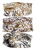 Masks (chain link with animal print)