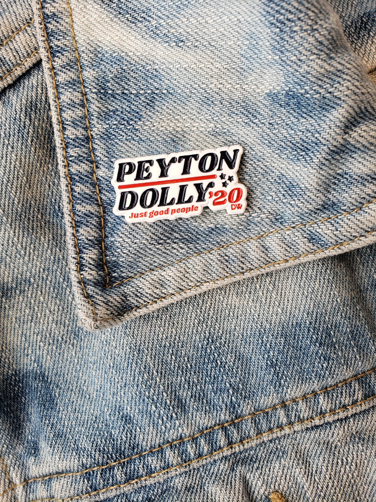 The Peyton Dolly '20 Enamel Pin