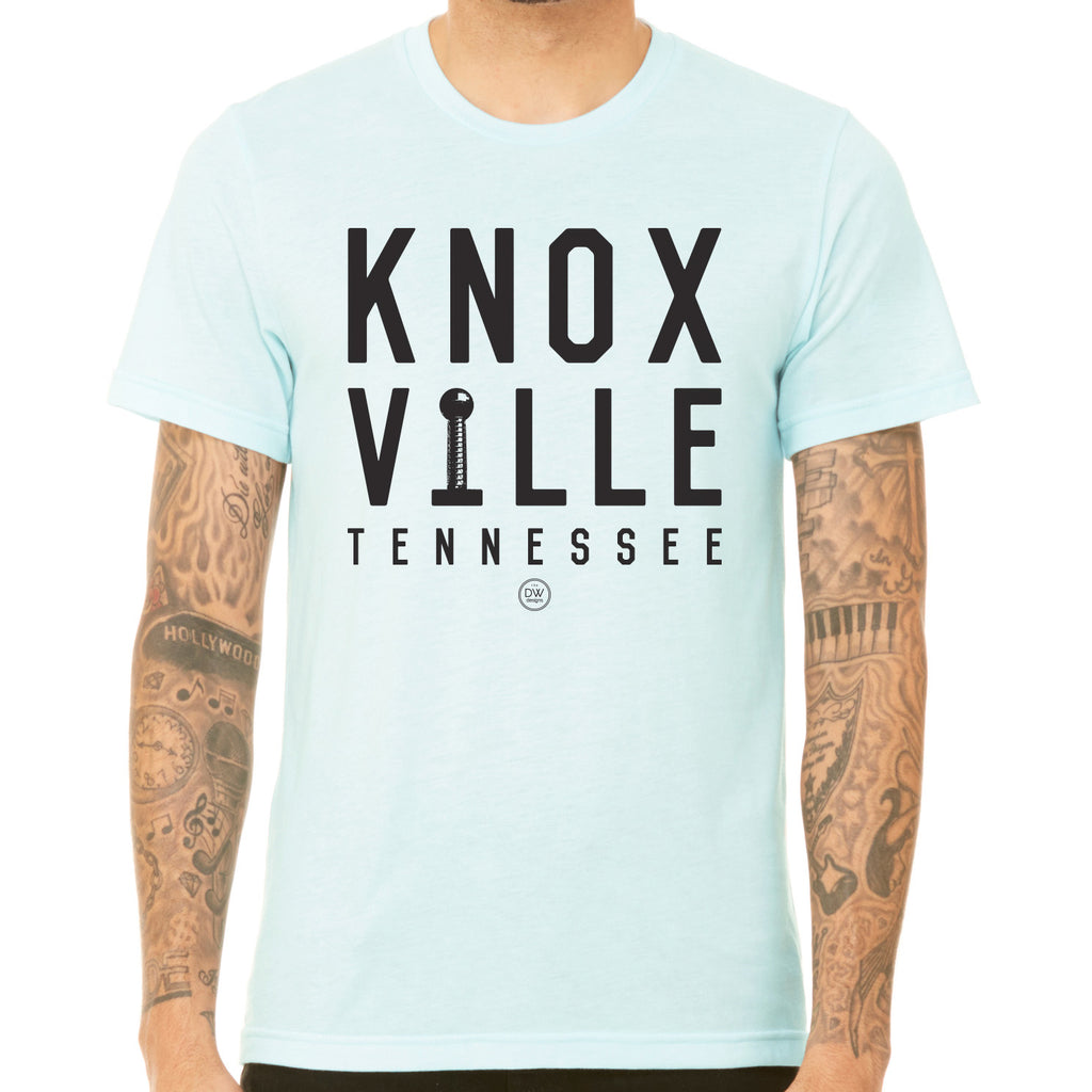 The Knoxville Stacked Tee - Light Blue