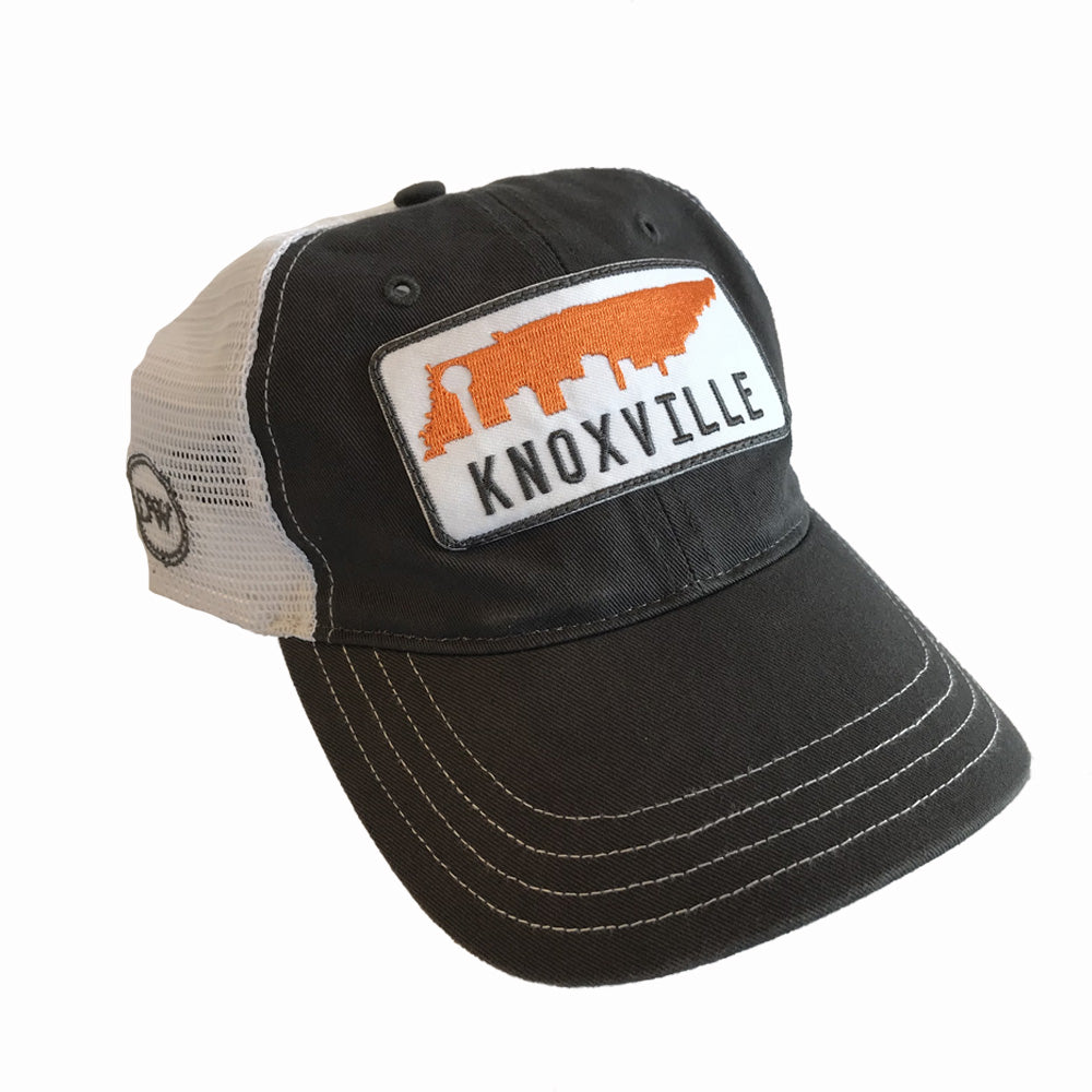 The Knox Skyline Unstructured Trucker Hat - Grey