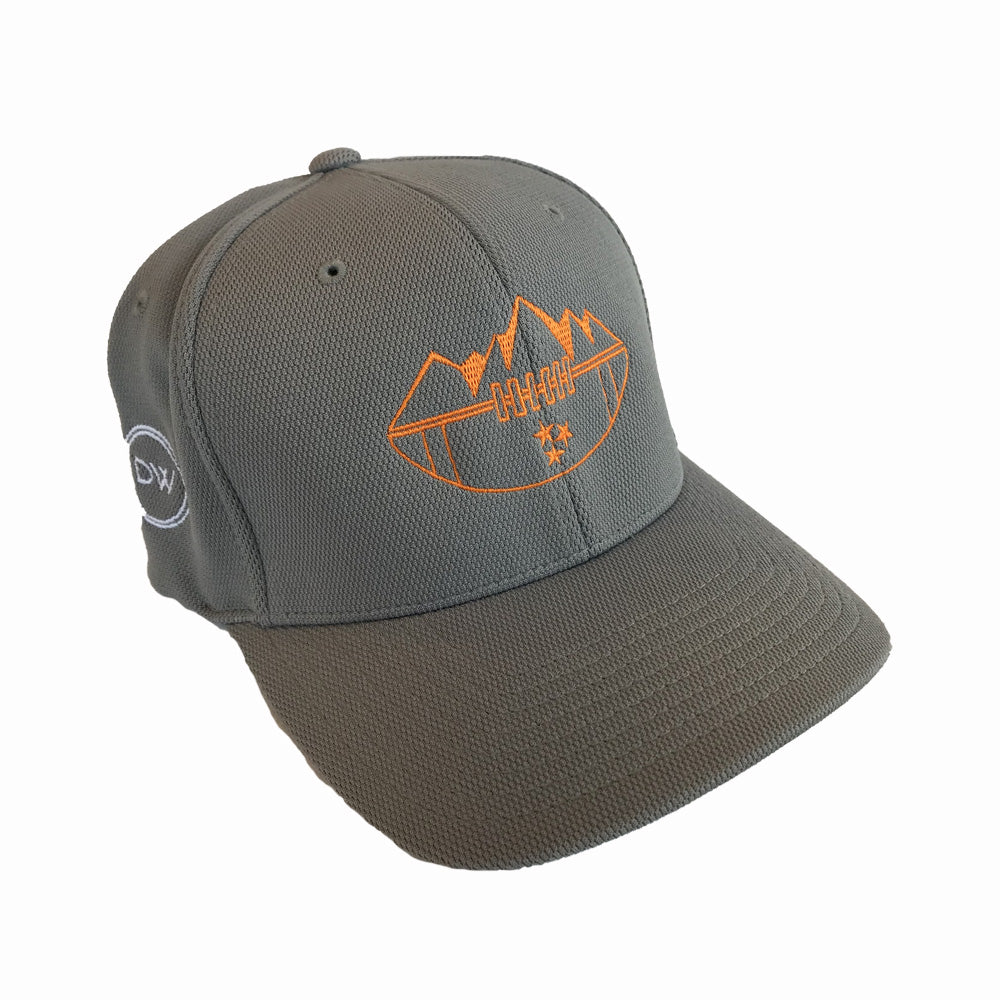 The MTN Top Football Flexfit Hat - Silver