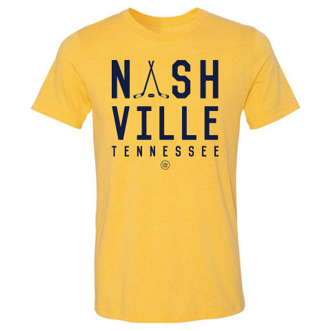 The Nashville Stacked Tee - Yellow - DWC