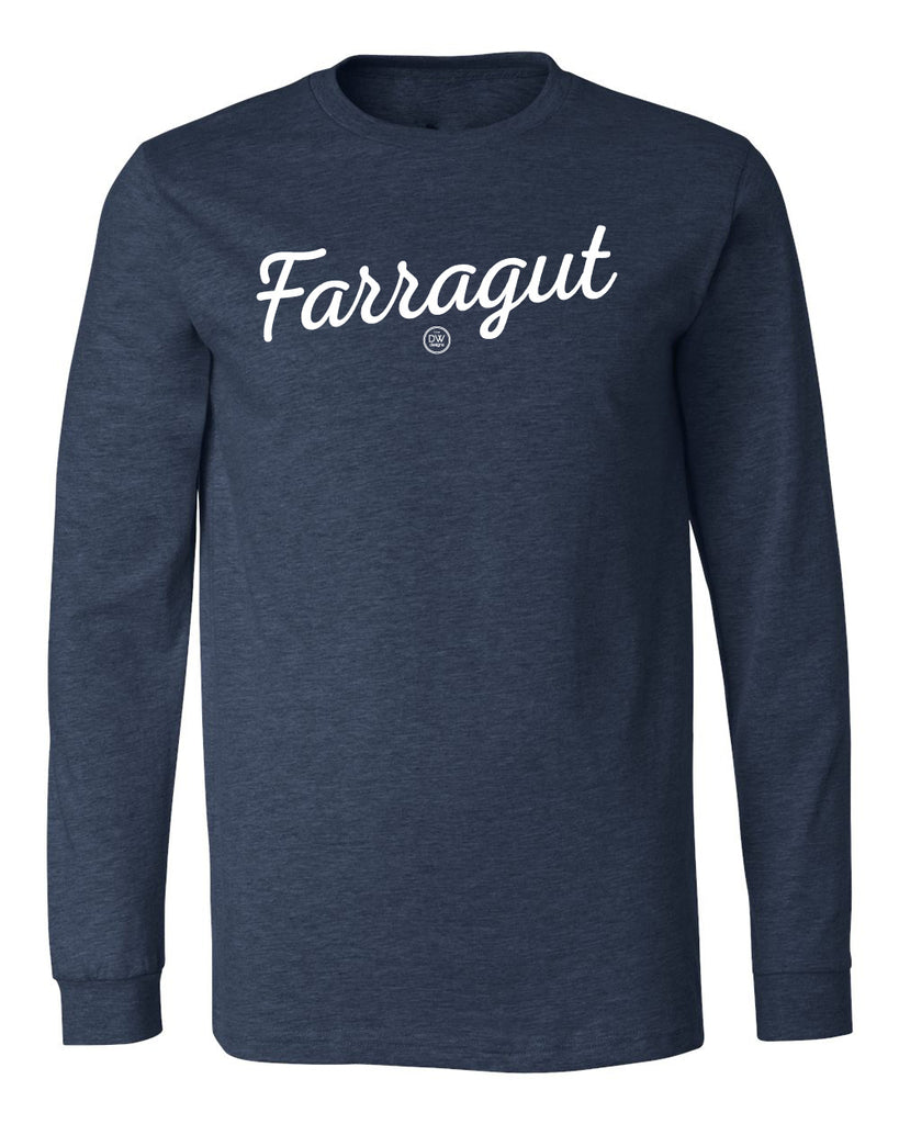 The Farragut Script Long Sleeve Tee - DWC