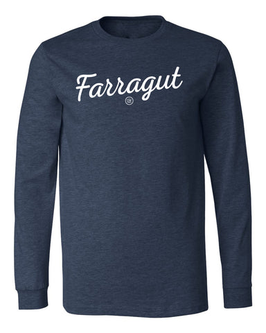 The Farragut Script Long Sleeve Tee