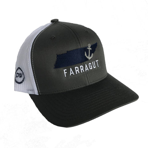 The Farragut Anchor State Trucker Hat