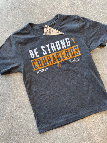 The Strong X Courageous Kids' Tee