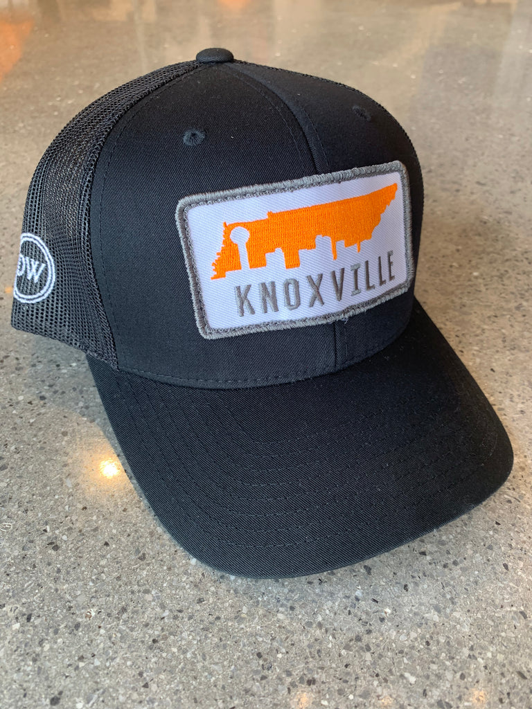 The Knox Skyline Trucker Hat - Black