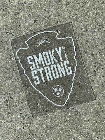 The Smoky MTN Strong Sticker