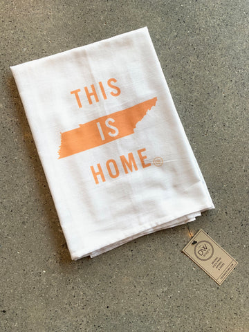 The This is Home Tea Towel - orange (28 x 29)