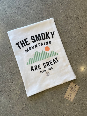 The Smoky MTN are Great Tea Towel (28 x 29)