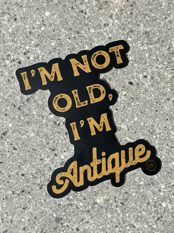 The Not Old, Antique Sticker
