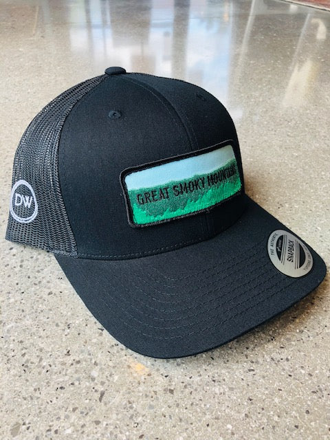 The GSM Patch Trucker Hat - Black