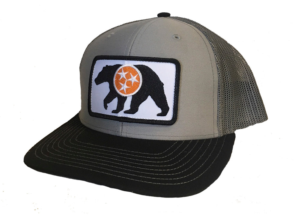 The Native Bear Trucker Hat - Tri Grey