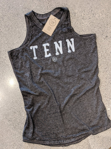The TENN Stamp Women's Acid Wash Tank