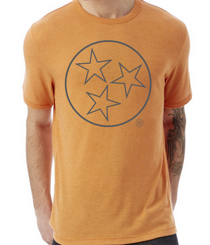 The Tristar Outline Tee-Orange