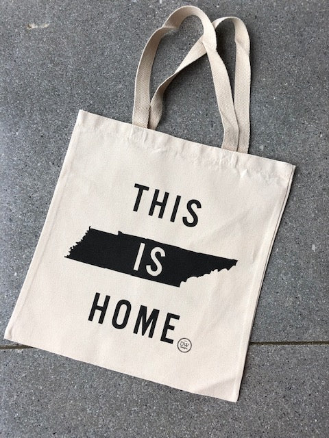 The This is Home Canvas Tote - Black