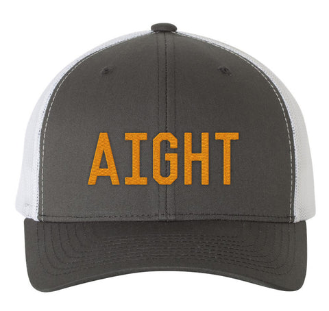 The Aight Trucker Hat - Charcoal