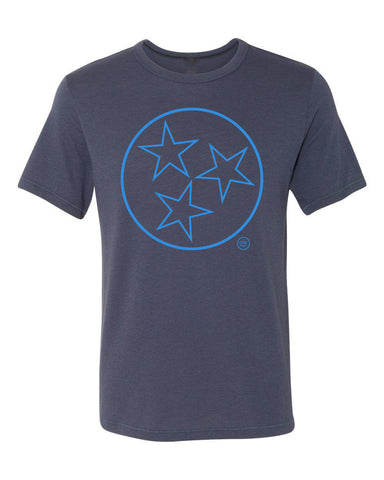 The Tristar Outline Tee-Navy